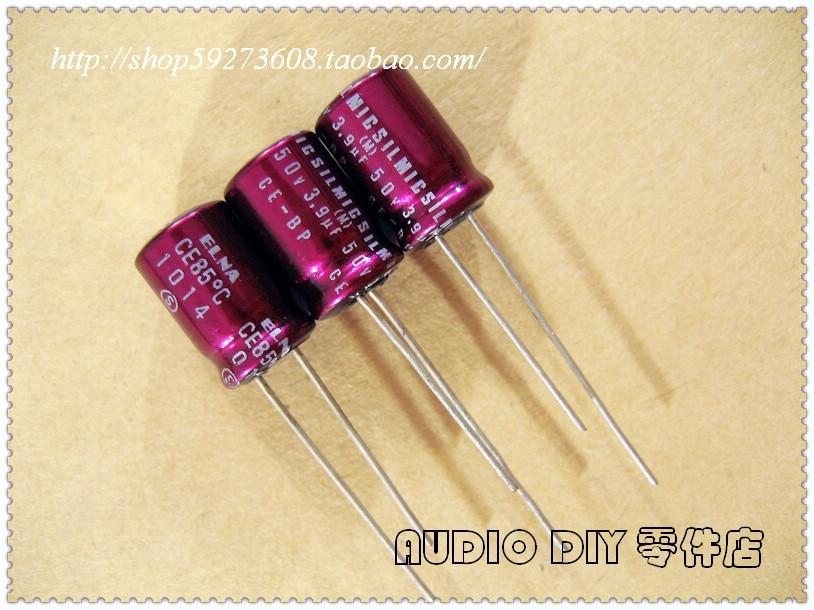10Pcs 50v 1uF 50V CE-BP ELNA Bipolar Capacitor 4x7mm for Audio