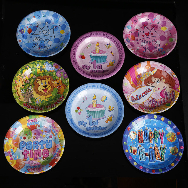 10pcs 18cm Cartoon Printed Disposable Paper Plates Dish Party Decoration Cake Pan Kids Birthday Party Outdoor  sc 1 st  AliExpress.com & 10pcs 18cm Cartoon Printed Disposable Paper Plates Dish Party ...