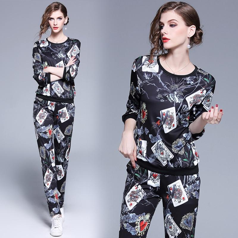 2 deux pièces ensemble femmes Femme hiver survêtement haut tendance + pantalon dames à manches longues tenue Femme sport costumes chandal mujer