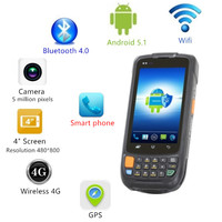 1D Wireless Wifi Bluetooth Android Barcode Scanner PDA Data Terminal Scanner GPS Bar Code Reader