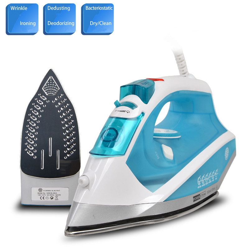 110V 5Gear Electric Ironing Machine New Steam Atomizing Mist Spray Electric Iron With US Plug 1200W/1800W Teflon/Stainless Steel cukyi household electric multi function cooker 220v stainless steel colorful stew cook steam machine 5 in 1