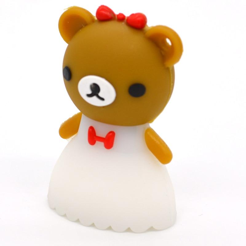 pendrive 뜨거운 만화 Rilakkuma 곰 결혼 웨딩 펜 - 외부 저장 - 사진 4