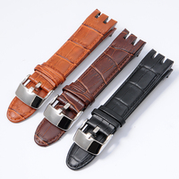 High Quality Genuine Calf Leather Watch Band For Swatch Watch Strap For YRS403 YRS401 YRS402G YRS412