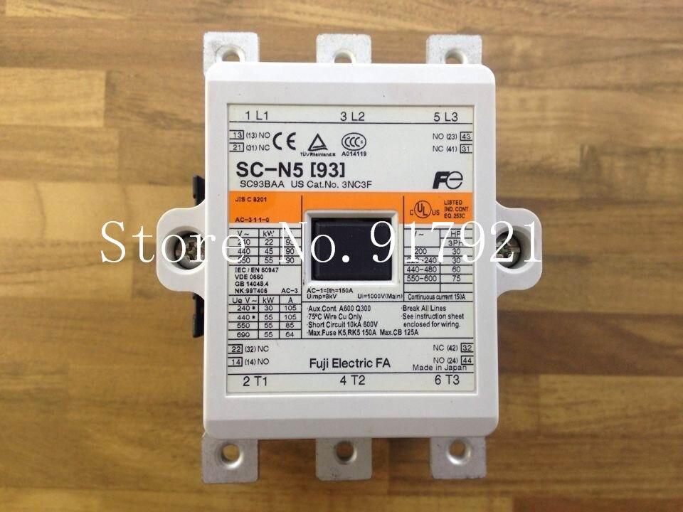 [ZOB] Fuji SC-N5 [93] DC100-120V contactor to ensure genuine AC100-127V