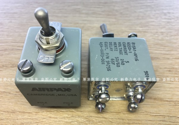 [VK]  original American AIRPAX waterproof 2 gear button switch 81541-AP16-6550-1  81541-AP16 6550-1 4 feet toggle switch. button switch a165l agm 12 1 original
