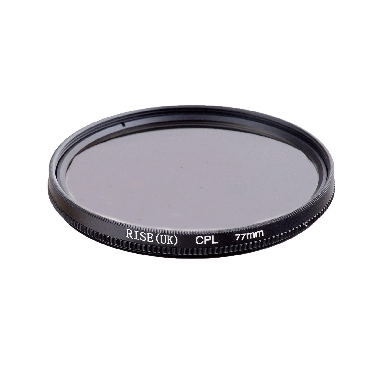RISE 77mm Circular Polarizing CPL C PL Filter Lens 77mm For Canon NIKON Sony Olympus Camera
