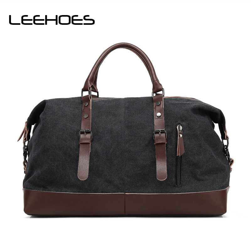 Fashion Canvas Bags Travel Bag Hard Men's Canvas Bag Handbags Messenger Retro Briefcase Brand Crossbody Shoulder for Teenagers