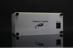 Image 4 - Milliohm metre yüksek hassasiyetli dijital mikro ohm direnç test aleti LCD ekran dört telli testi + Kelvin klip DC 12V güç