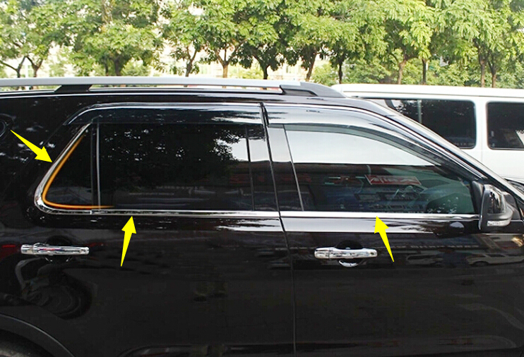 Stainless Window Bottom Sill Frame Cover Trim 6pcs For Ford Explorer 2011-2014