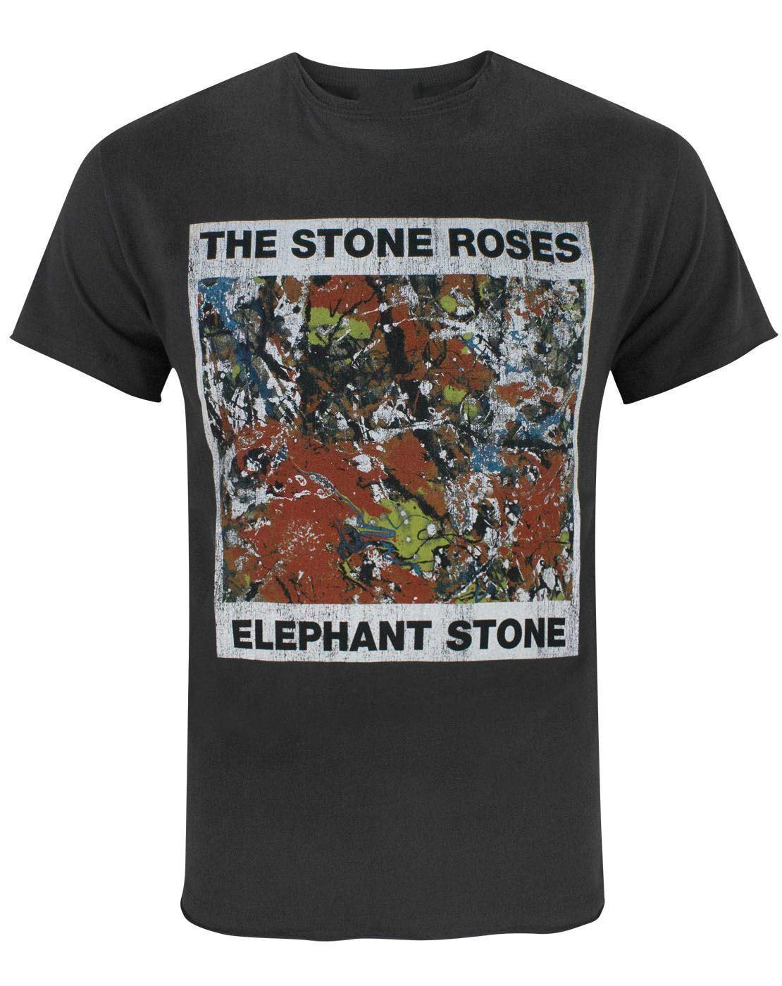 Amplified Stone Roses Elephant Stone Men's T-Shirt Tee Shirt Casual Short Sleeve Summer Cotton T-Shirt Fashion Trend