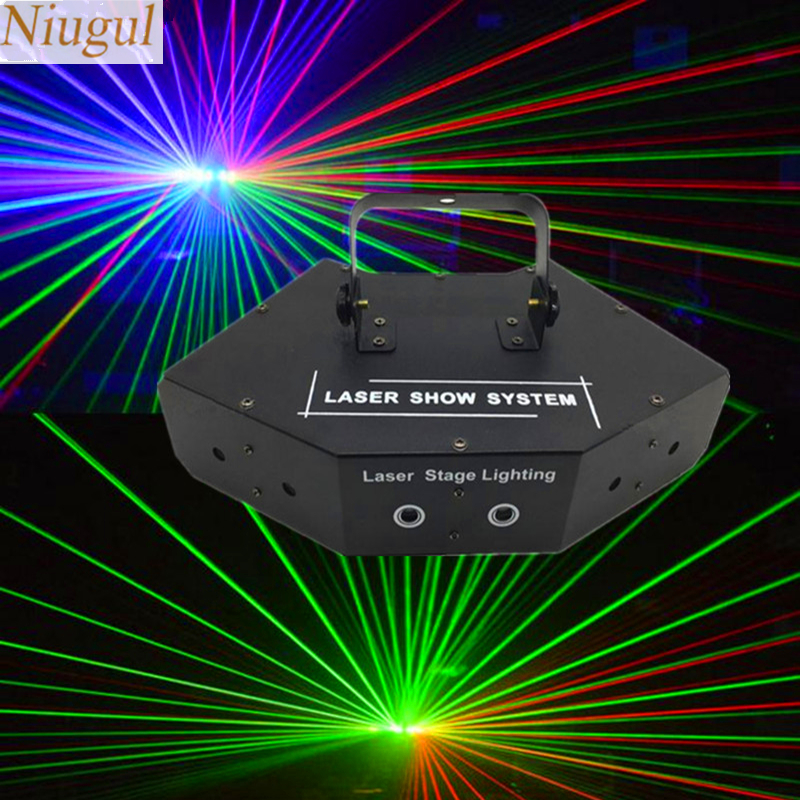 6 Lens RGB Scan Laser Light/DMX Line Beam Scanning Stage Lighting/DJ Dance Bar Home Party Disco Laser Lighting/Laser Show System