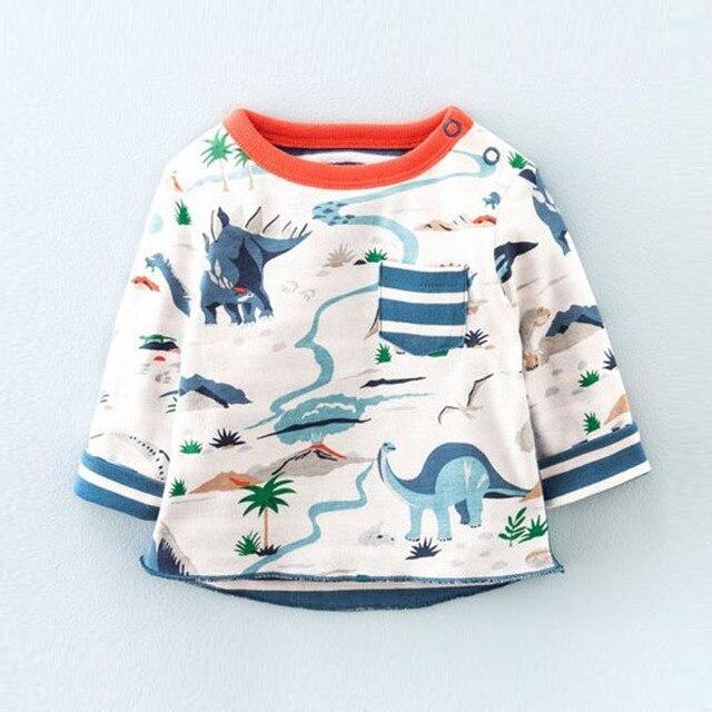 Little Maven cotton long sleeved shirt boy baby T-shirt all-match leisure autumn jacket