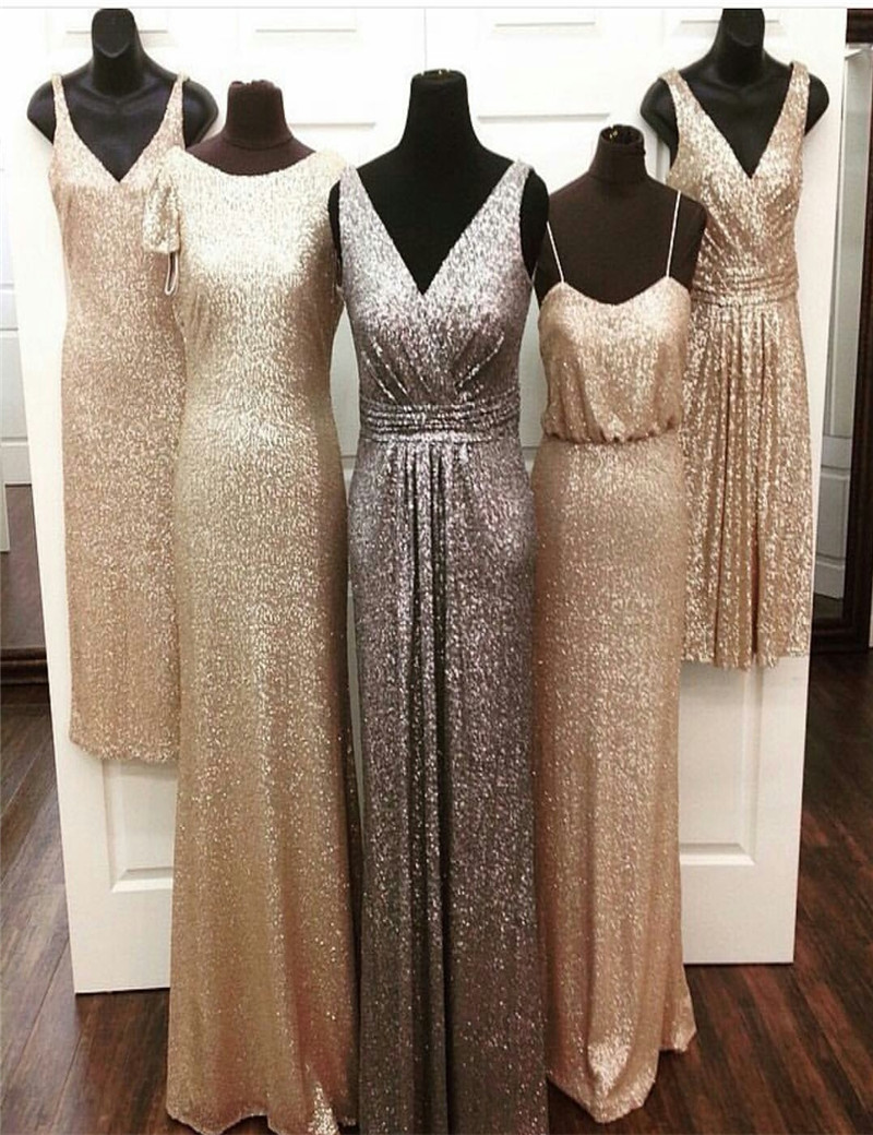 Online get cheap champagne colored bridesmaid dresses with sleeves cheap coral colored gold sequin bridesmaid dress floor length elegant champagne gold lavender bridesmaid dresses time limited ombrellifo Choice Image