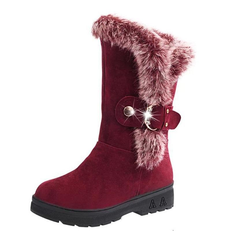 font b Women s b font Fashion Fleece Warm Fur font b Boots b font