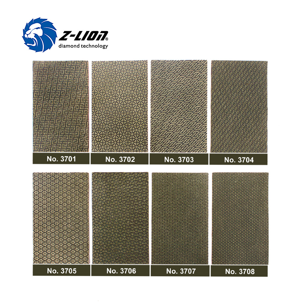Z-LION 2 Sheets Diamond Sandpaper Electroplated Polishing Sheet Abrasive Sanding Paper Grit 60 120 200 400 Replacement Abrasive