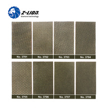 Z LION 2 листа, алмазная наждачная бумага, гальванизированный полировальный лист, зернистость 60, 120, 200, 400, заменяемый абразивный