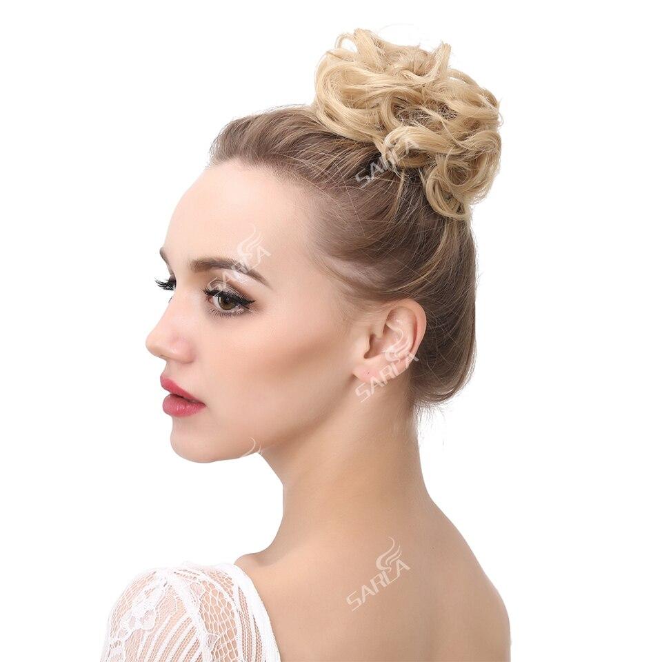 Image 4 - Сарла 100 шт грязные волосы кольцо для наращивания резинка для волос Chignons синтетические резинки для волос шиньон для создания прически H2hairpiece bunhairpiece hairhairpiece hair extension  АлиЭкспресс