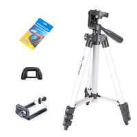 Tripod Kit WT3110A Tripod With Head Tripod For DSLR Camera Canon Nikon Sony Lens Cleaning Paper