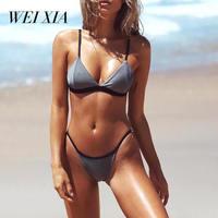 Christmas Gift WEIXIA Women S Sexy Low Waist Bandage Bikini Beachwear Swimsuit