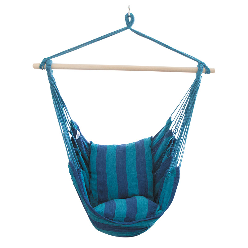 New Leisure Canvas Chair Portable Outdoor Hammock Adults Children Indoor Cradle Chair Swing Dormitory Hanging Bed with CushionNew Leisure Canvas Chair Portable Outdoor Hammock Adults Children Indoor Cradle Chair Swing Dormitory Hanging Bed with Cushion