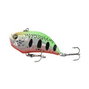 Image 3 - 1 sztuk VIB Lure 12g 5.2cm wibracje twarda przynęta 3D oczy ABS plastikowe wędkarskiego Wobblers Noisy Rattle Isca sztuczne Pesca
