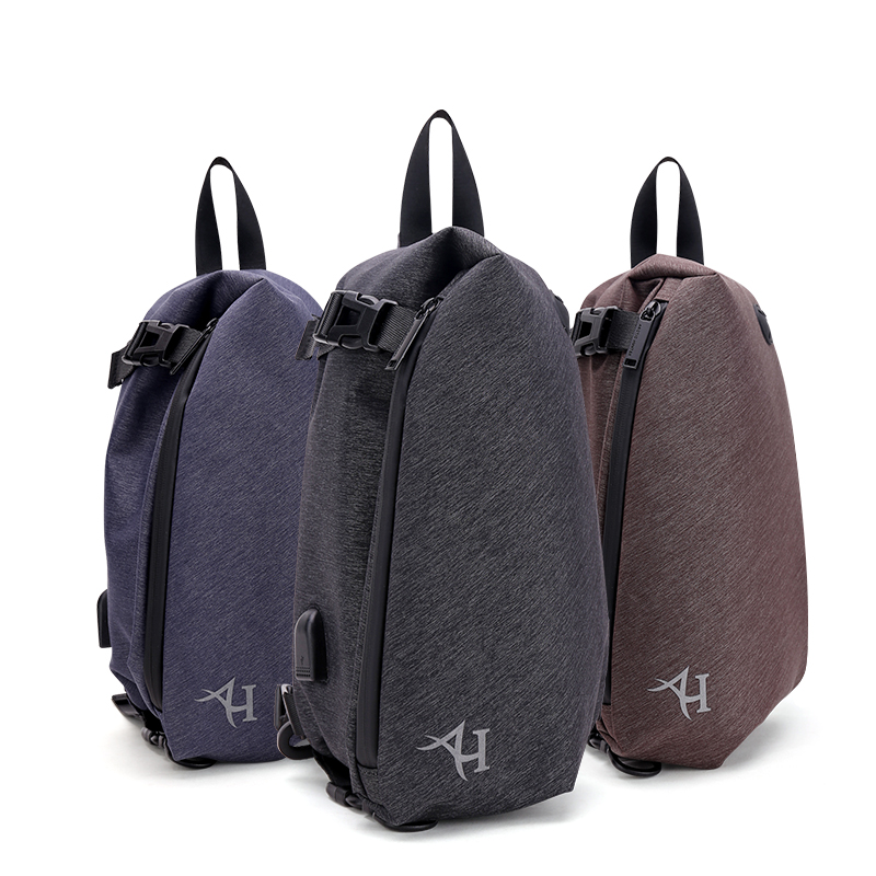 dc15e2e2df0f ARCTIC HUNTER Casual Travel Men s Crossbody Bags USB Charg Male Chest Bag  Anti theft Waterproof iPad shoulder Bags gift