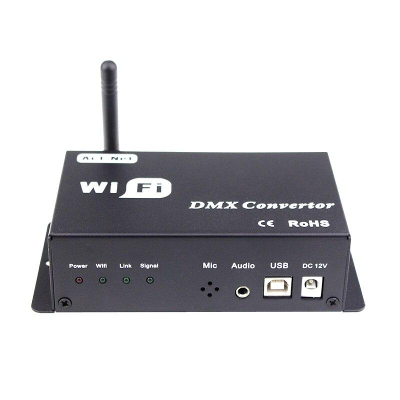 Wifi conversor dmx led controlador 12v android ou ios sistema de controle sinal wi fi converter sinal dmx para lâmpadas led saída dmx512 - 3