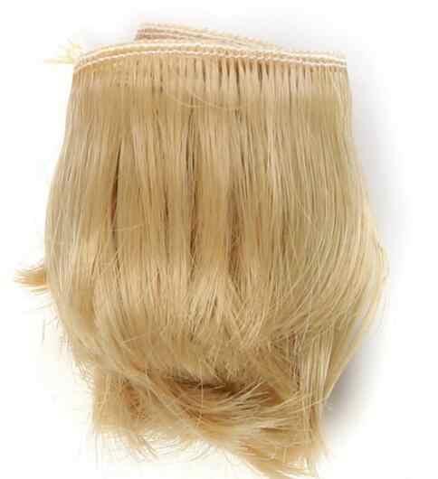 1 шт. 5 см Черный Белый Коричневый цвет прямые кукольные волосы для 1/3 1/4 BJD куклы diy Волосы