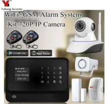 YobangSecurity Android IOS APP Wifi GSM GPRS Home Alarm System with Camera English French Spanish Russia Swedish Dutch Voice