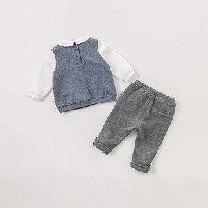 Image 2 - DBW8557 dave bella baby jungen kleidung kinder langarm kleidung sets kinder boutique outfits jungen mit krawatte gentleman sets