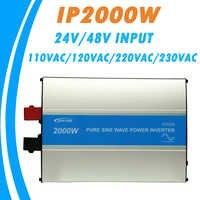 Onduleur à onde sinusoïdale Pure EPever 2000 W 24 V/48 V entrée 110VAC 120VAC 220VAC 230VAC sortie 50 HZ 60 HZ convertisseur haute efficacité IPower