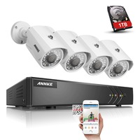 SANNCE 4CH 720P HDMI AHD DVR CCTV Security System 2PCS 1200 TVL 1 0 MP Outdoor