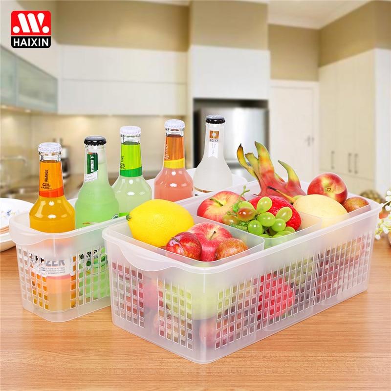 Kitchen, Refrigerator, Fruit, Vegetables,  Vegetable Basket, Transparent Plastic Drawer, Basket Rectangu