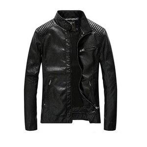 Image 2 - 2020 חדש עור מפוצל מעיל גברים בגדי Streetwear שטף צמר אופנוע עור מעיל אופנה מפציץ מקרית מעיל דרעי Mont
