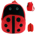 Gift for baby 1pc 23cm cartoon mini ladybird boy plush backpacks Satchel little coin bag snack shoulder bag toy