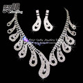 free shipping fashion rhinestone bridal necklace earring jewelry sets wedding jewelry sets wholesale