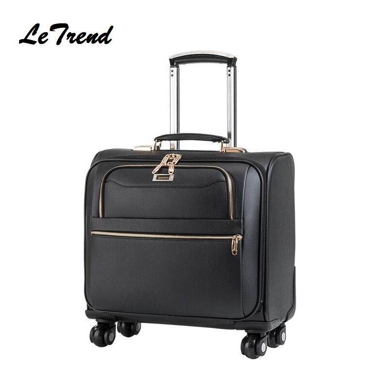 Black Men Rolling Luggage Spinner High-grade PU Wheel Suitcase Women Trolley 20 inch Carry On Business Travel BagBlack Men Rolling Luggage Spinner High-grade PU Wheel Suitcase Women Trolley 20 inch Carry On Business Travel Bag