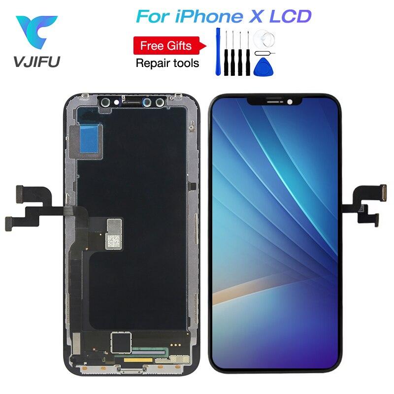 Super AMOLED Pour iPhone X LCD OLED Écran Tactile Assemblée D'affichage Avec 3D Tactile D'origine OEM TFT Pour choisir 100% testé Travail