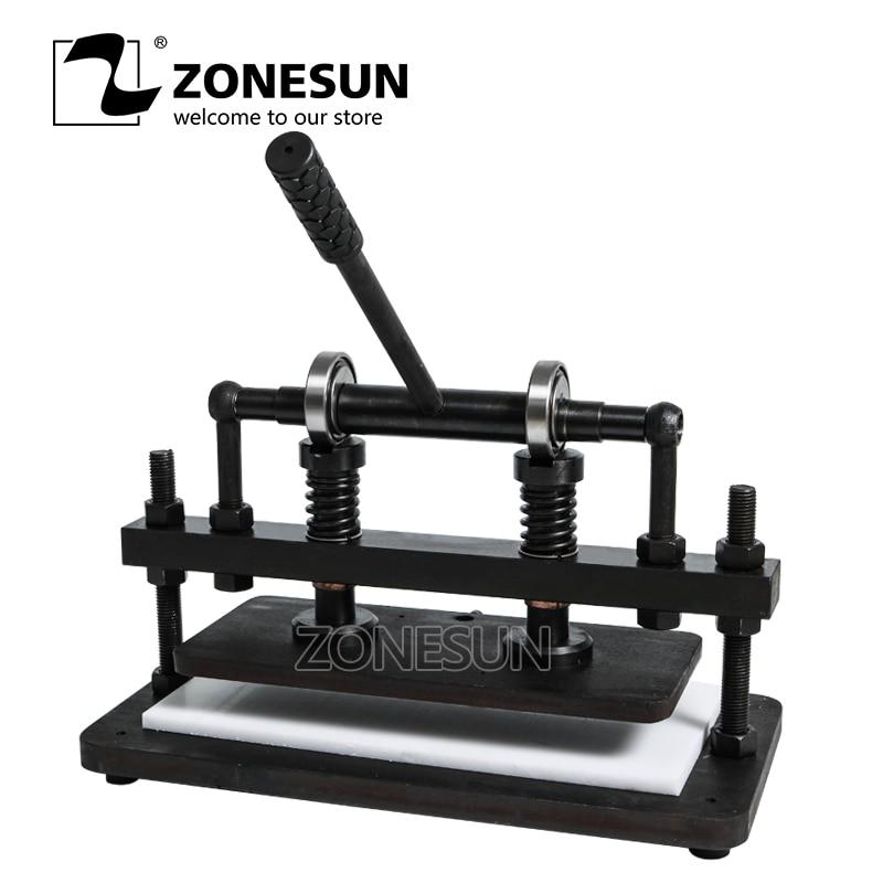 ZONESUN 3616 cm Double roue main en cuir machine de découpe papier photo PVC/EVA feuille moule coupe en cuir machine de découpe outil - 1