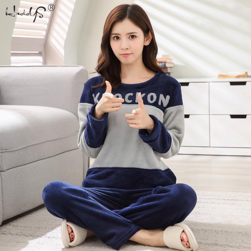 Image 5 - Women Winter Warm Pajamas For Unisex Couple Cartoon Pyjama Sets Animal Pyjama Suit Sleepwear Women/Men Home Clothing Pijamas-in Men's Pajama Sets from Underwear & Sleepwears on AliExpress
