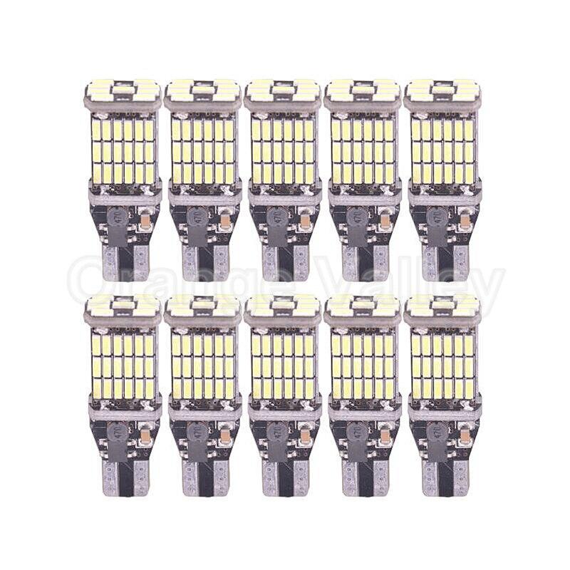 10шт супер яркий 45 Т15 лампы w16w СИД SMD 4014 авто canbus габаритные огни, лампа для чтения внутреннее освещение лампы