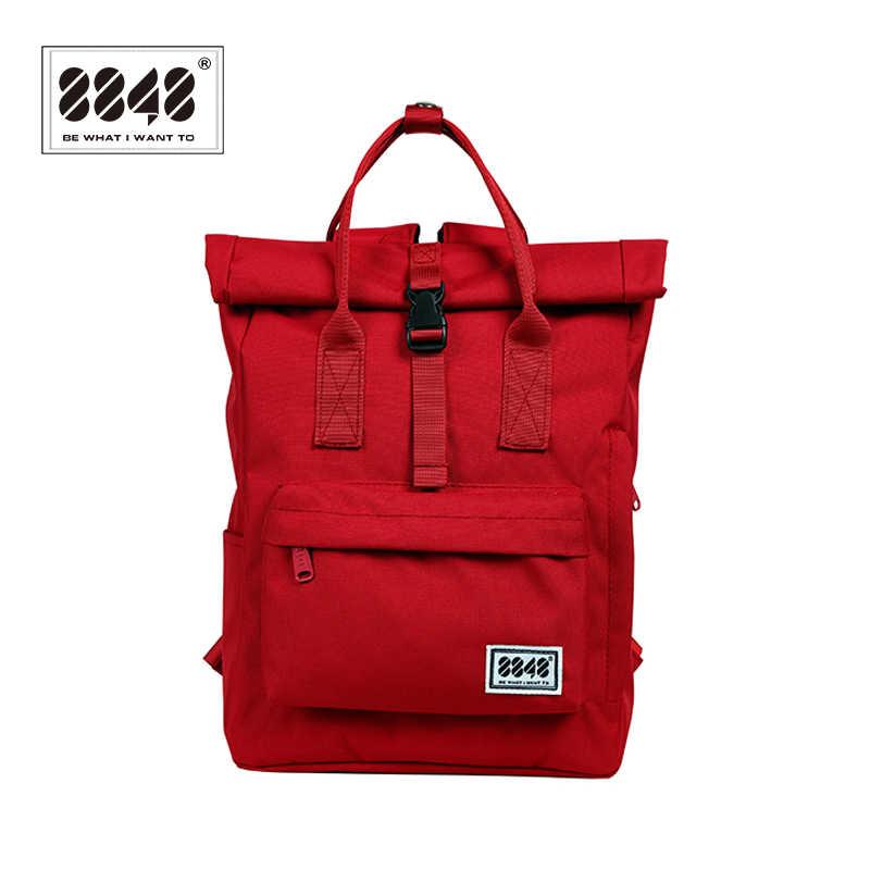 8848 Mochila marca para mujeres, mochilas escolares atractivas para estudiantes, morrales de viaje Oxford para chicas, mochila, bolso rojo, mochila 030-041-011
