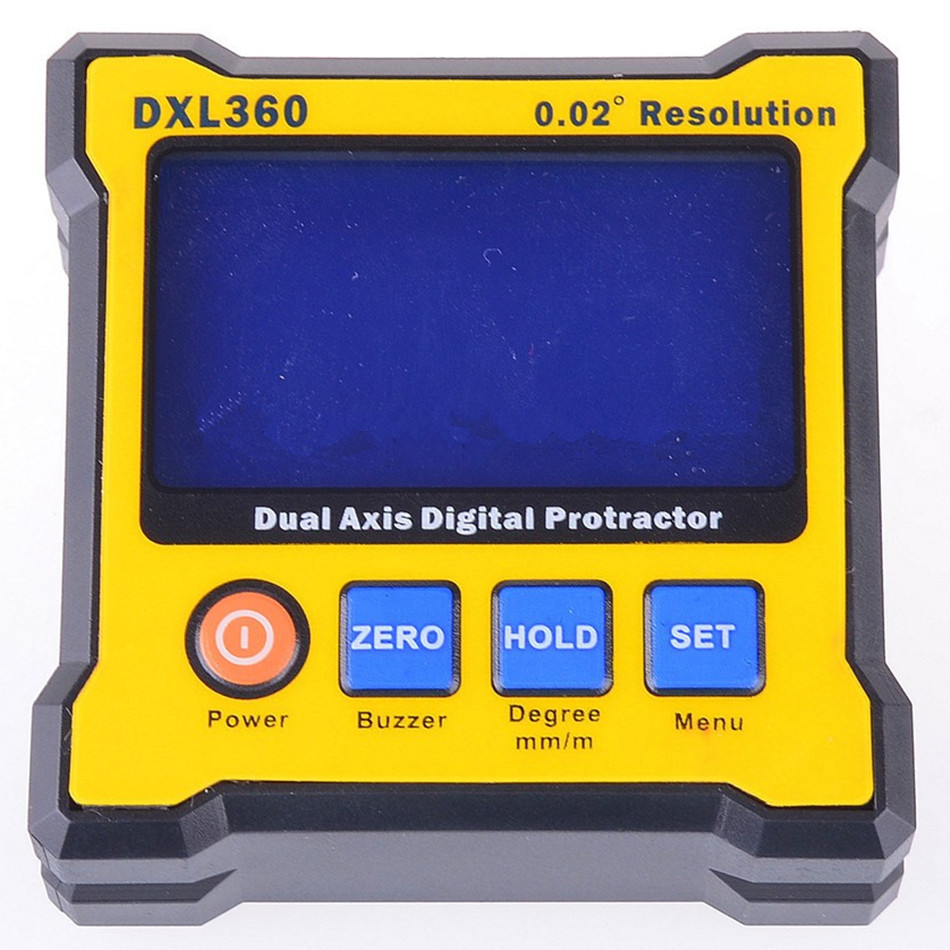 DXL-360 Upgrade High Precision LCD Mini Digital Protractor Inclinometer Dual Axis Level Measure Box Angle Ruler 0.02 Degree free delivery level 24 in lightweight hard plastic 3 bubble triple ruler measure tool