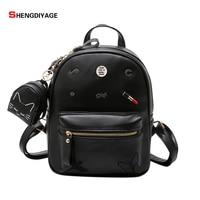 SHENGDIYAGE 2017 Fashion Women S Brand Elegant Backpacks High Quality PU Leather Women Backpack Pretty Style