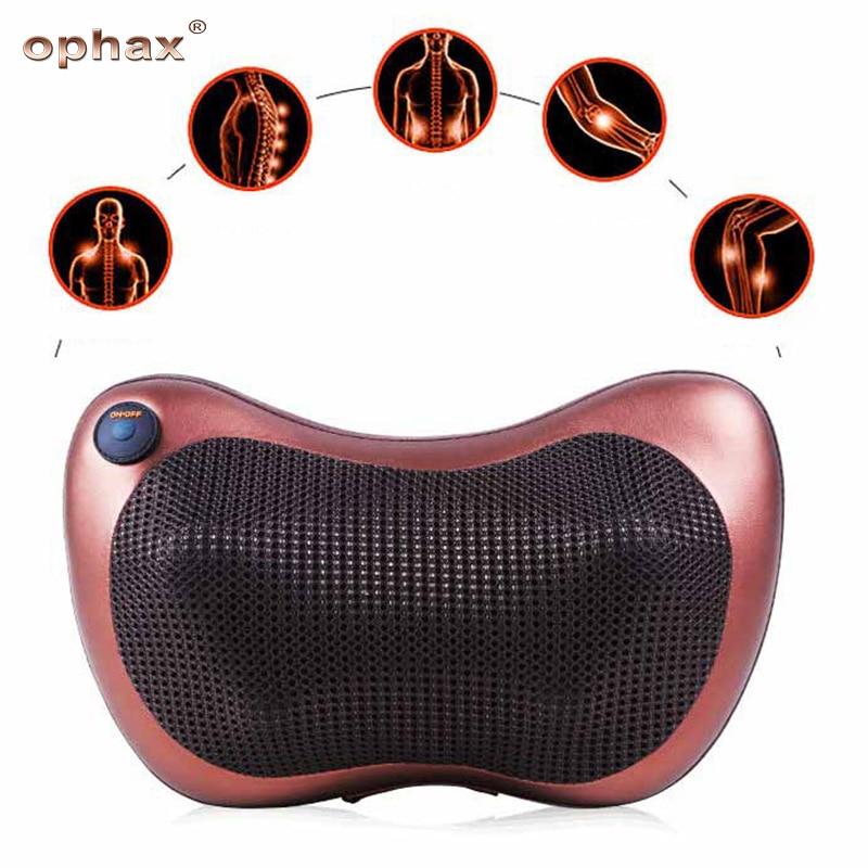 OPHAX Massage Waist Body Electric Multifunctional back massager Pillow Car Chair Neck Massager Cervical vertebra therapy relax hot selling free shipping bone shape massage pillow relax car massage pillow