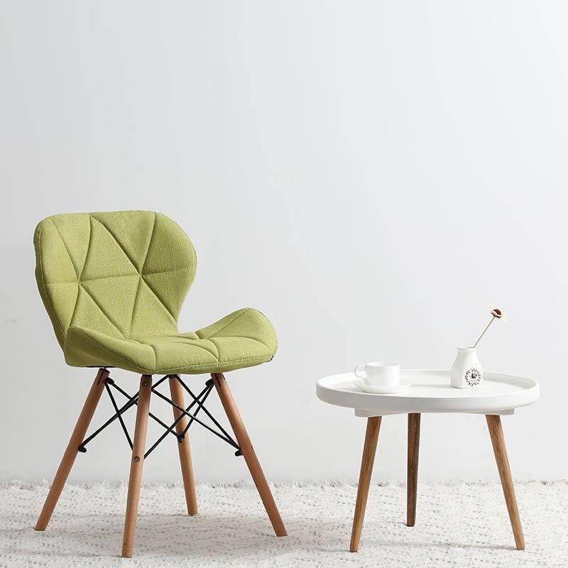 Современный минималистичный стол компьютерный стул домашний Ресторан обеденный стул из твердой древесины скандинавский диван спинка макияж пляж - Цвет: S