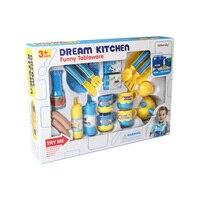 Exquisite Packaging Kitchen Set Kids Toys Simulation Cooking Food Plastic Diversity Fruit Vegetables Preschool Toy For