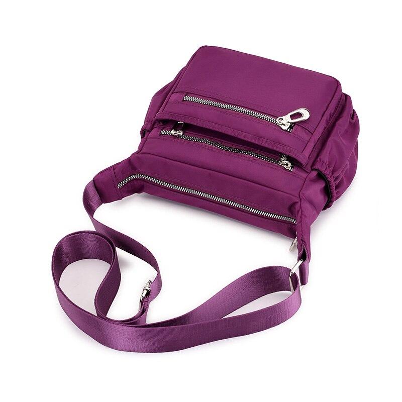 blu Blue A bag Donne Spalla Delle bag Tracolla Con Solido Red Impermeabile Femminile Black Multi Signore Purple Bag Gray Di bag Casual Hobos Borse bag Tracolla tasca Borsa Nylon ABUw6W