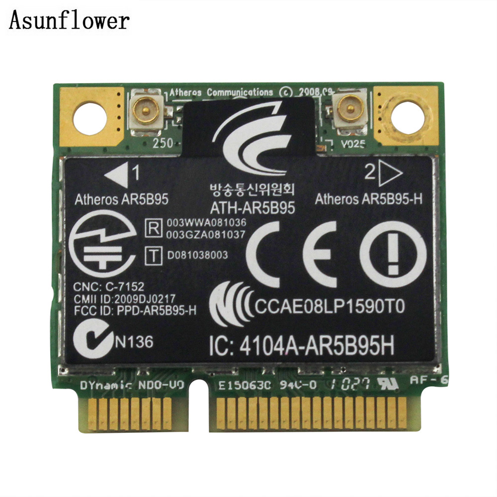 Atheros AR5B95 Wireless WiFi WLAN Card For HP G42 CQ42 G62 CQ62 605560-005 PCI-E