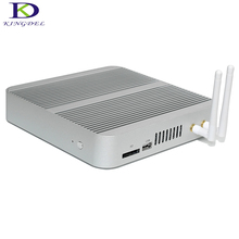 Core i3 6100U/i5 6200U HTPC WiFi Окна 10 безвентиляторный неттоп Нулевой Уровень шума компьютер с 4 К HDMI USB SD Мини-ПК